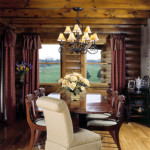 High Peaks Log Homes, dining room, Rogers