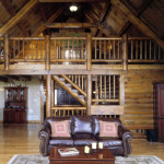 High Peaks Log Homes, living room, Rogers