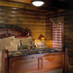 High Peaks Log Homes, bedroom, Rogers