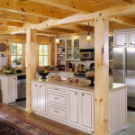 High Peaks Log Homes, kitchen, white