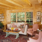High Peaks Log Homes, living room