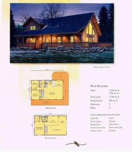 High Peaks Log Homes, Aspen Hill Floor Plan