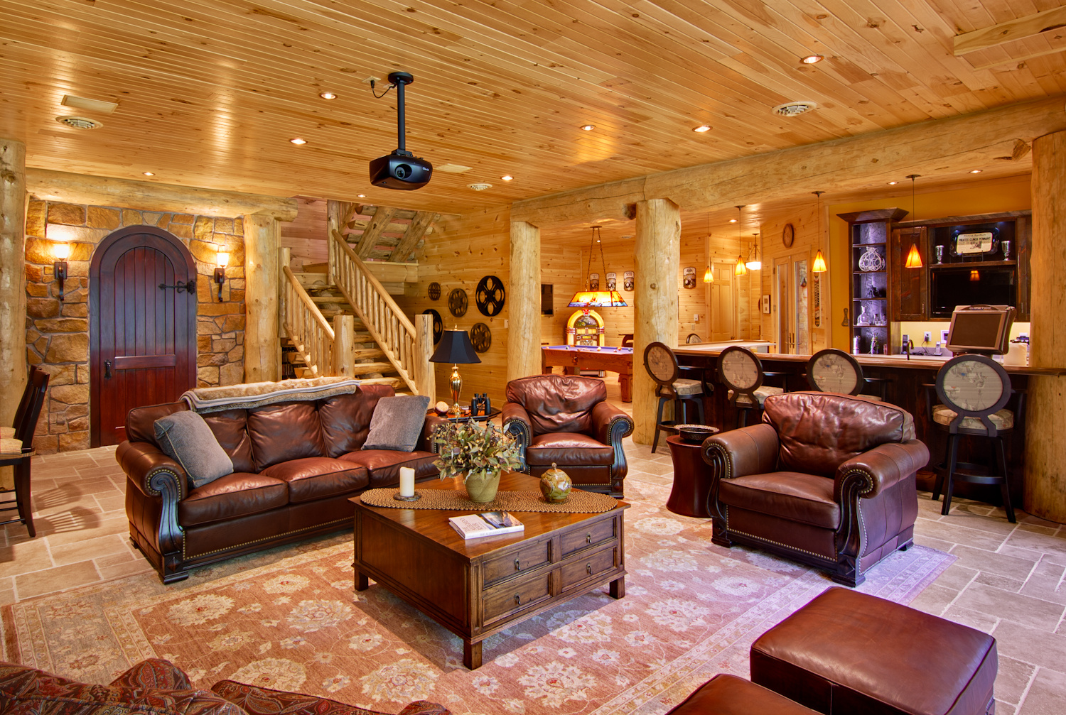 High Peaks Log Homes, Great Room, Barth