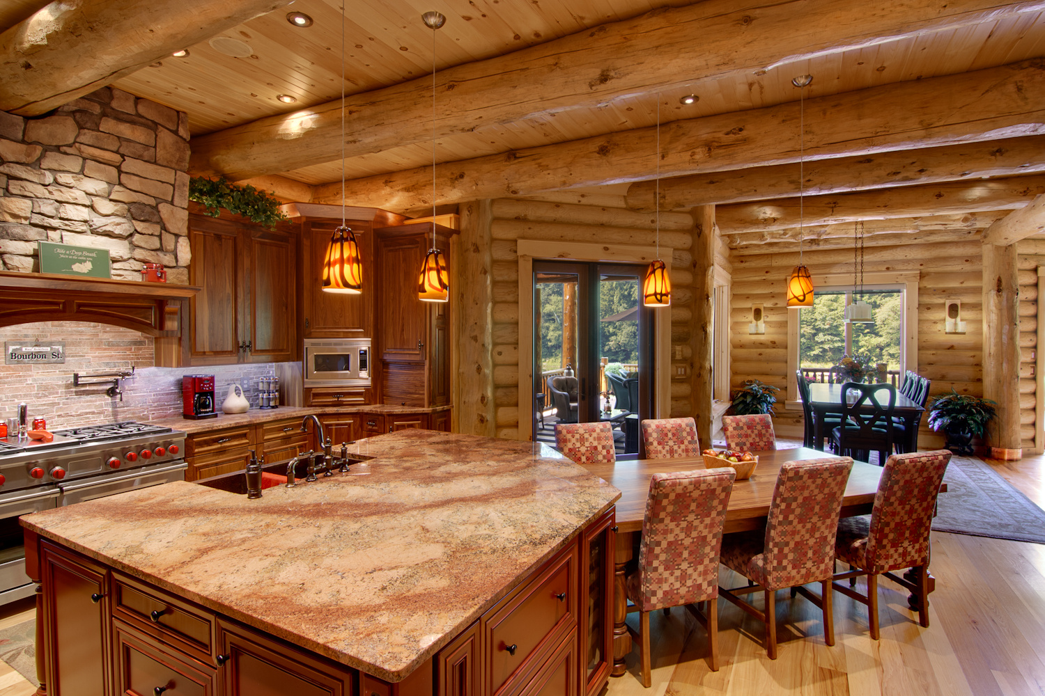 High Peaks Log Homes, Dining Room, Barth