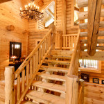 High Peaks Log Homes, stairs, Barth