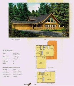 High Peaks Log Homes, Keystone floor plan