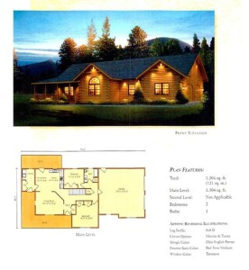 High Peaks Log Homes, Loyalhanna floor plan