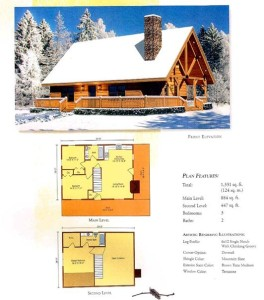 High Peaks Log Homes, Moshannon floor plan