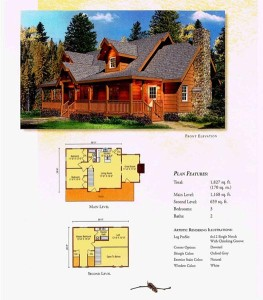 High Peaks Log Homes, Swatara floor plan
