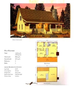 High Peaks Log Homes, Valley View floor plan