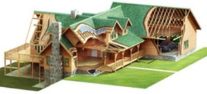 High Peaks Log Homes, finish materials log home package