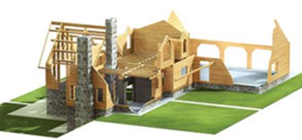 High Peaks Log Homes, log and timber log home package