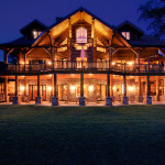 High Peaks Log Homes, log home exteriors-Twilight-3
