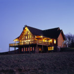 High Peaks Log Homes, log home exteriors, chesapeke design, in Kentucky