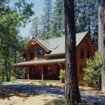 High Peaks Log Homes, log home exteriors, dovetail corners