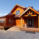High Peaks Log Homes, log home exteriors, in Pennsylvania