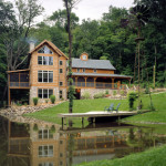 High Peaks Log Homes, log home exteriors, in iowa