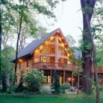High Peaks Log Homes, log home exteriors, in ohio