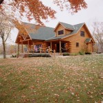 High Peaks Log Homes, log home exteriors, lakeside