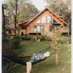 High Peaks Log Homes, log home exteriors, relaxed living