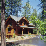 High Peaks Log Homes, log home exteriors,beck, california