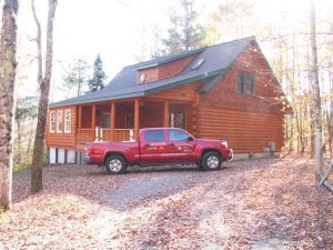 High Peaks Log Homes, North River Job - after