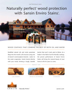 sansin log home products